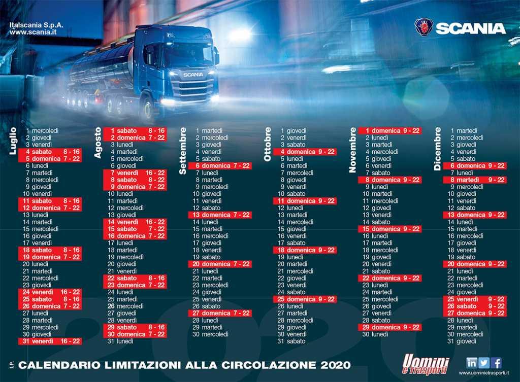 Calendario Divieti Mezzi Pesanti 2021 Scania Divieti estivi per i veicoli pesanti | Uomini e Trasporti